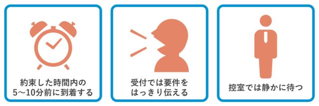 面接のマナー:受付・控室編
